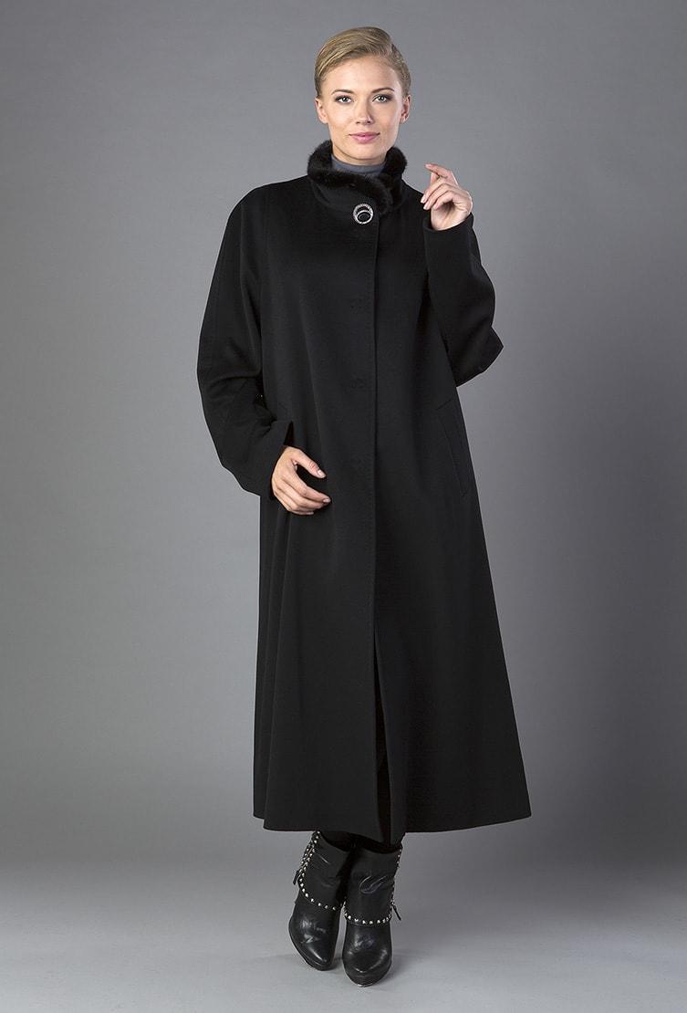 Черное пальто свободного кроя Heresis для высоких женщин