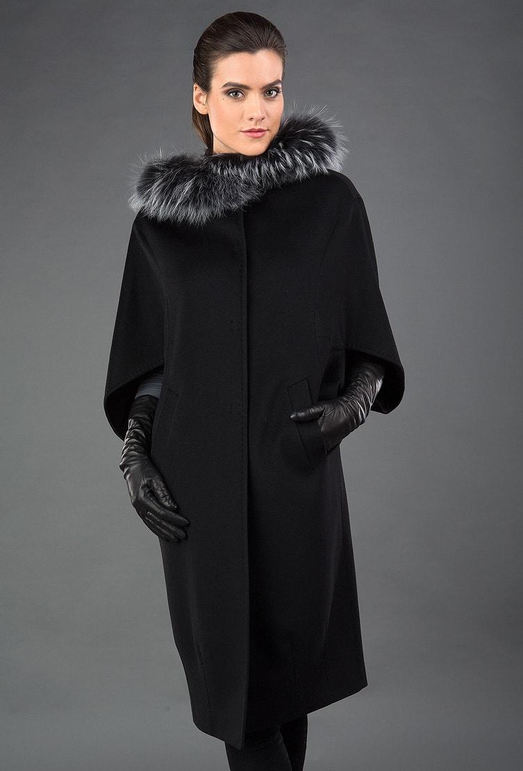Элегантное женское пальто Heresis черного цвета