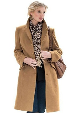 Женское кромби в классическом стиле с платком с леопардовым принтом