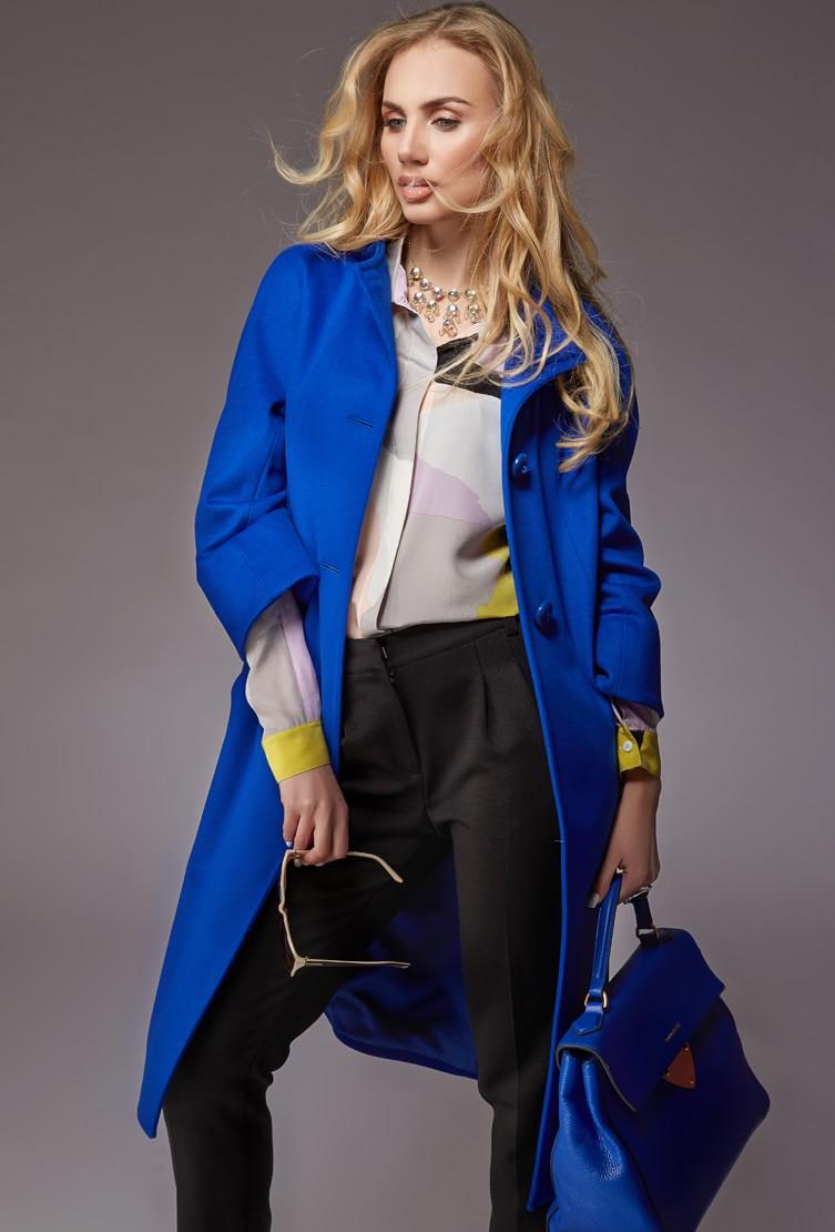 Пальто женское синее Teresa Tardia