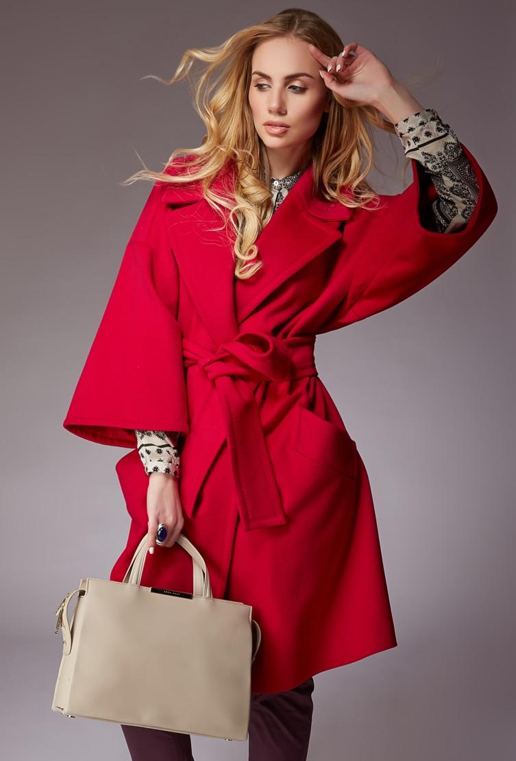 Пальто женское красное Teresa Tardia