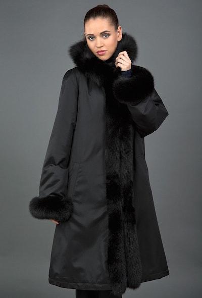 Длинное зимнее пальто на меху Rolf Schulte