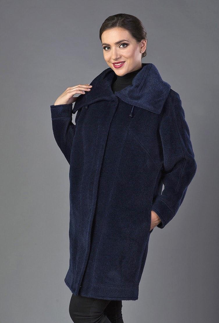 Женское пальто-кокон из шерсти альпака сезона осень-зима