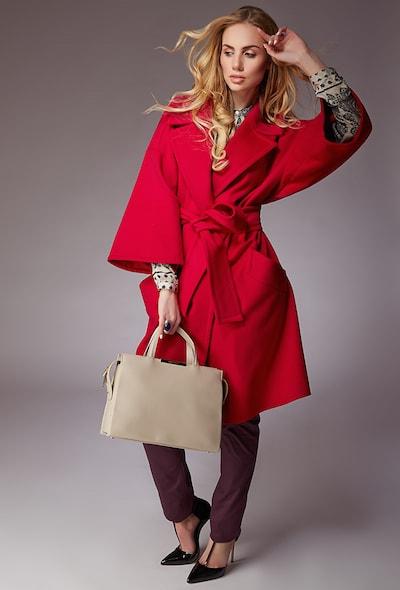 Красное женское пальто-кимоно Teresa Tardia