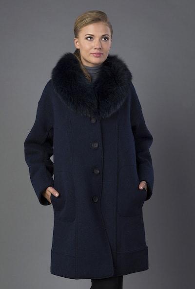 Расклешенное женское пальто Violanti с меховым воротником