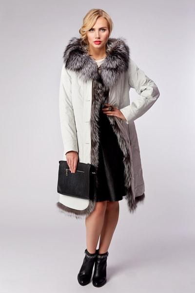 Укороченное женское зимнее пальто Garioldi с мехом