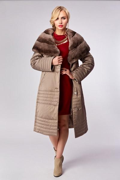 Демисезонное пальто с капюшоном Garioldi темно-синего цвета