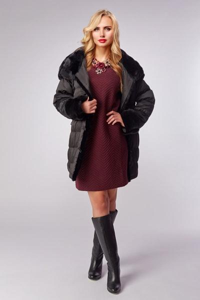 Женское демисезонное пальто на синтепоне Dixi Coat серого цвета