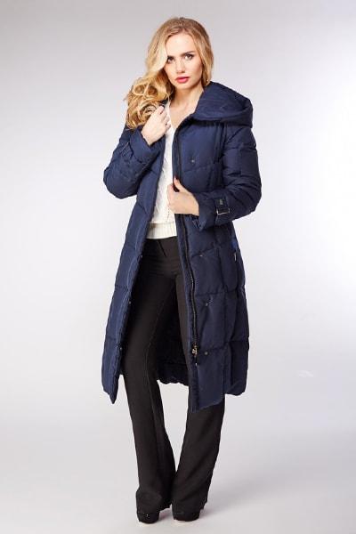 Длинное женское пуховое пальто Visconf/Violanti для зимы