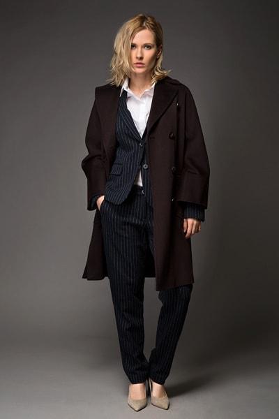 Двубортное пальто пардесю Teresa Tardia