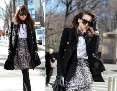 Женское пальто весна 2011 на улицах