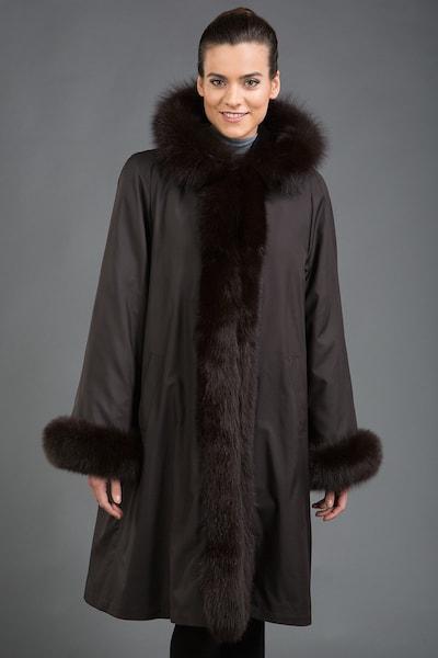 Зимнее пальто на меху кролика Rolf Schulte