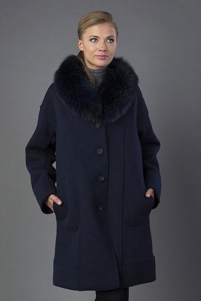 Синее женское пальто Violanti на большой размер