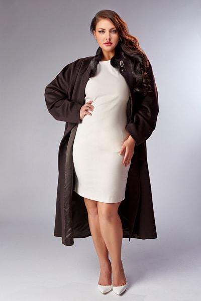 Прямое коричневое пальто Heresis большого размера