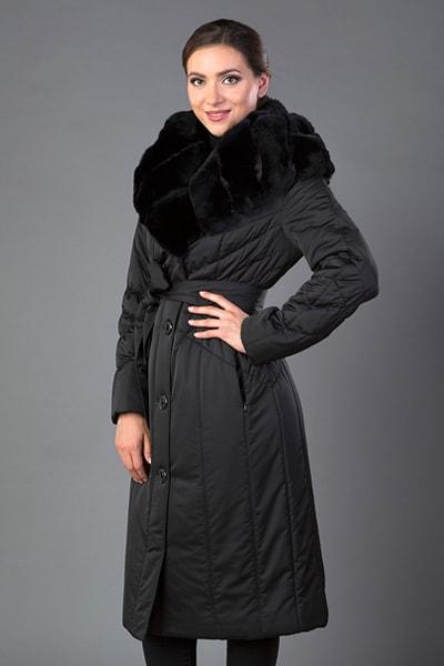 Демисезонное женское пальто на тинсулейте