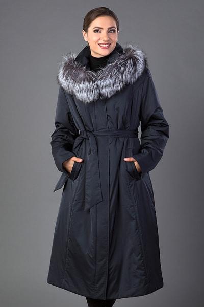 Длинное женское демисезонное пальто большого размера