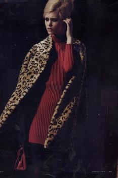 Пальто из искусственного меха от Diego M