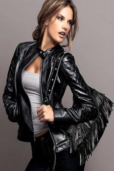 Женские кожаные куртки 2014