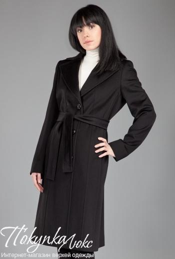 Черное классическое пальто Teresa Tardia с английским воротником
