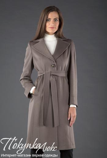 Классическое пальто табачного цвета Teresa Tardia