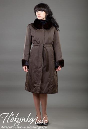 Классическое женское пальто из норки от Teresa Tardia