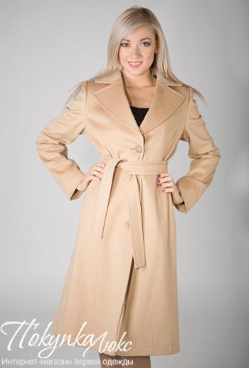 Классическое бежевое пальто Teresa Tardia