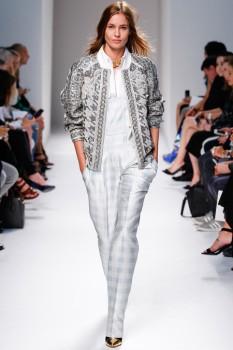 Серебристая женская куртка от balmain