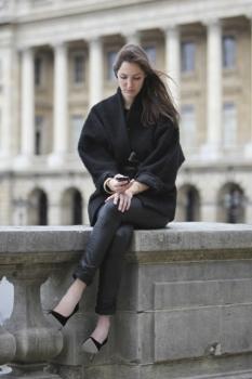 Женское осеннее пальто в восточном стиле