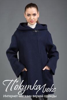 Модное женское пальто прямого силуэта с капюшоном для осеннего сезона