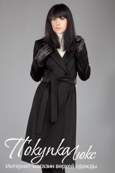 Черное классическое пальто Teresa Tardia
