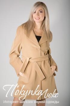 Укороченное пальто цвета слоновой кости