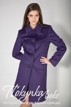 Фиолетовое короткое пальто