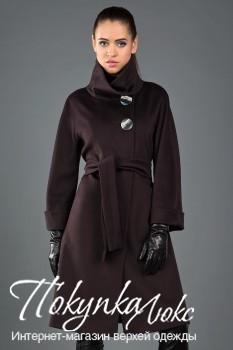 Пальто Teresa Tardia шоколадного цвета