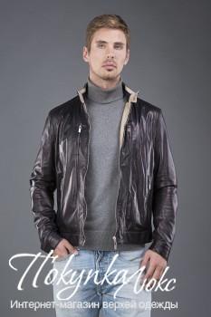 Мужская кожаная куртка AFG в спортивном стиле