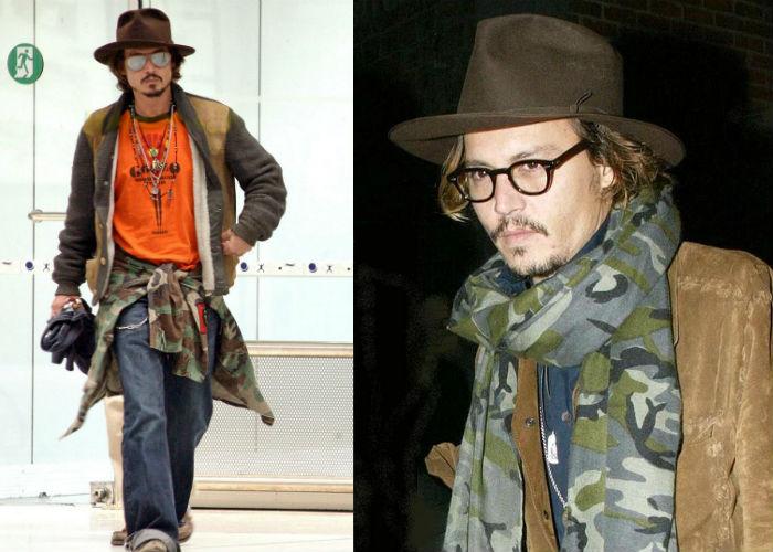 Депп знает, с чем носить камуфляжную куртку