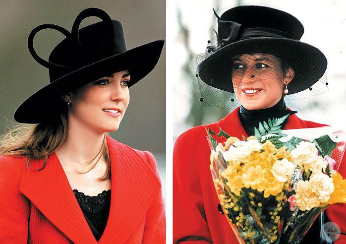 Кейт Мидлтон (2006 год) и принцесса Диана (1993 год)