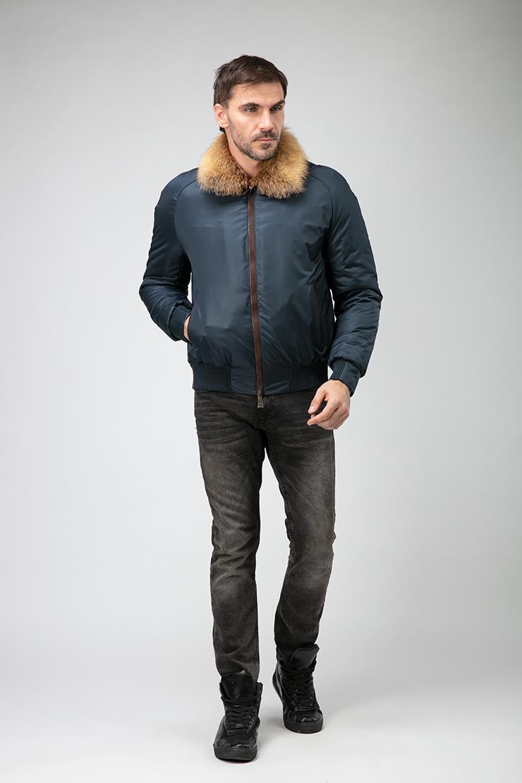 Короткая куртка на меху для мужчин