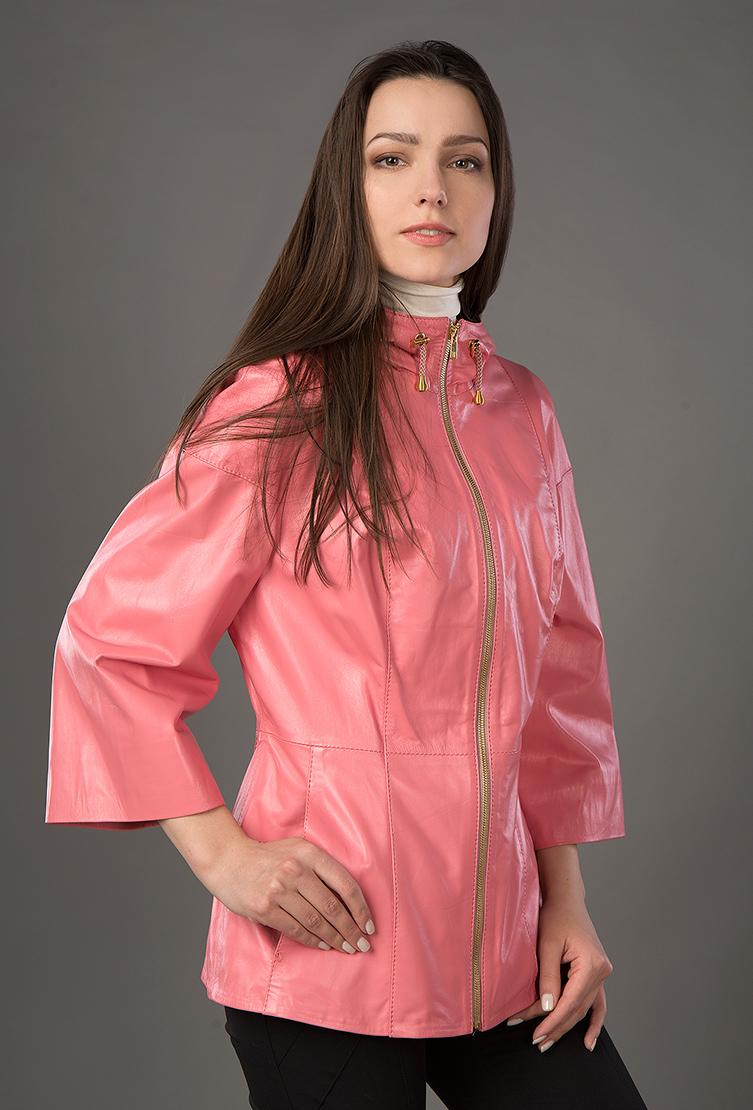 Турецкая легкая женская кожаная куртка