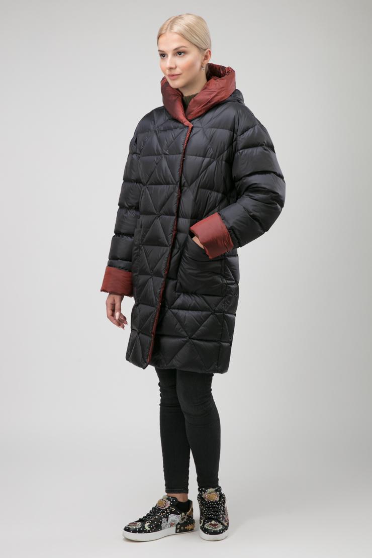 Зимний пуховик без меха на высокий рост фото