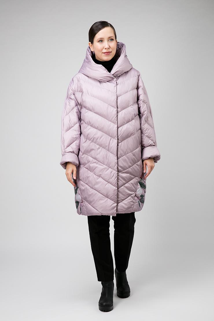 Модное пальто кокон без меха с капюшоном фото