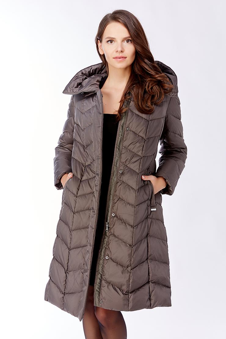 Пуховое прямое пальто с капюшономПуховики<br>Пуховое прямое пальто с капюшоном<br>Цвет: серо-коричневый; Размер: 44, 60; Состав: 100% п/э, подкладка 100% п/э, наполнитель 80% пух, 20% перо; Материал: 100% п/э, подкладка 100% п/э, наполнитель 80% пух, 20% перо;