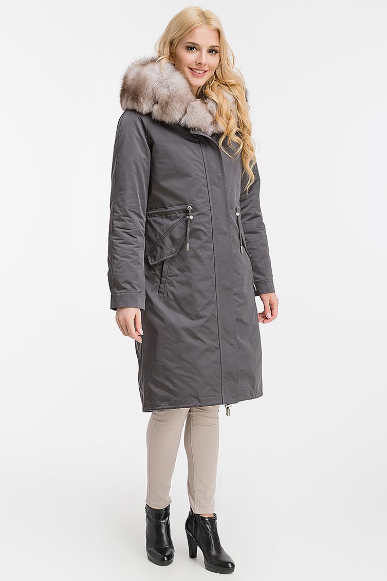 Пальто из Италии на зиму с капюшоном фото