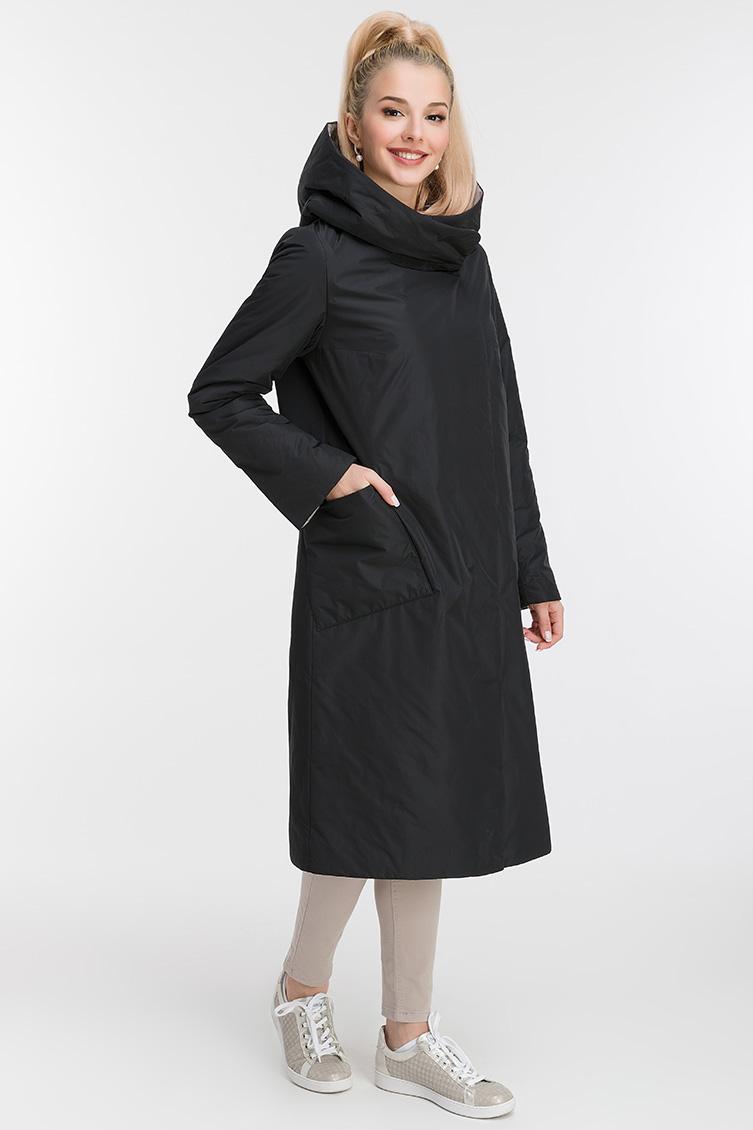 Прямое длинное демисезонное пальто фото