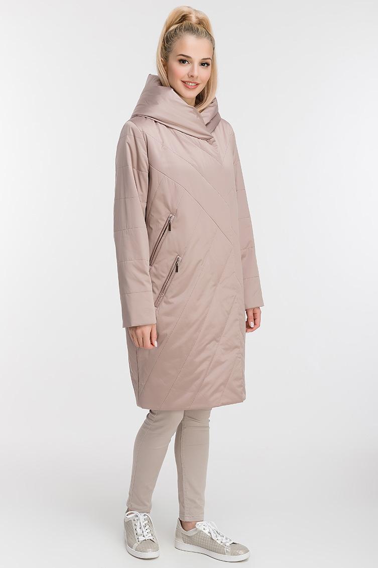 Стеганое пальто до колена с капюшоном фото