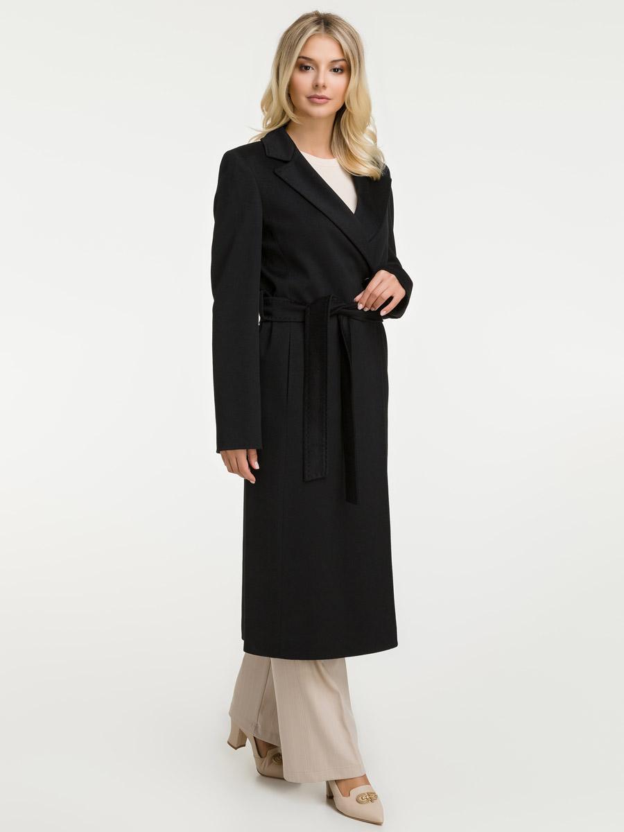 Длинное женское пальто с английским воротникомПальто<br>Длинное женское пальто с английским воротником<br>Цвет: черный; Размер: 40, 42, 44, 46, 48; Состав: 100% шерсть LoroPiana SuperFine; подкладка - 57% вискоза, 43% ацетат; Материал: 100% шерсть LoroPiana SuperFine; подкладка - 57% вискоза, 43% ацетат;