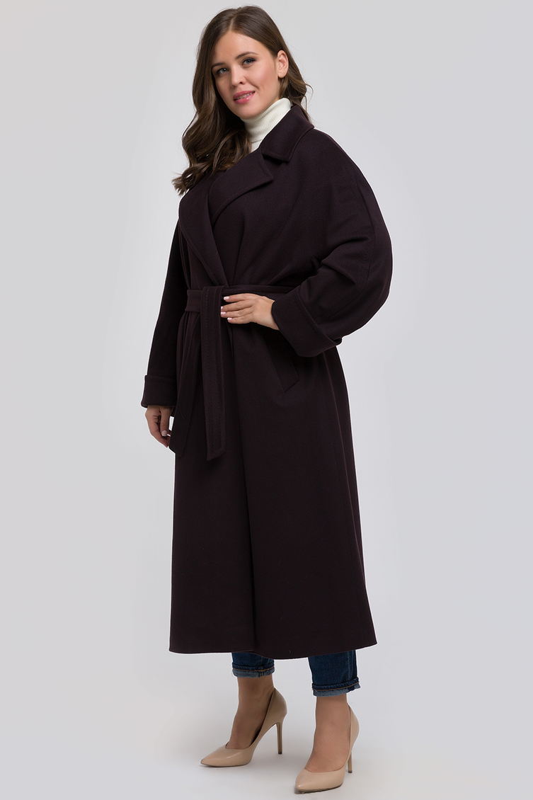 Классическое шерстяное пальто для больших размеров из Италии