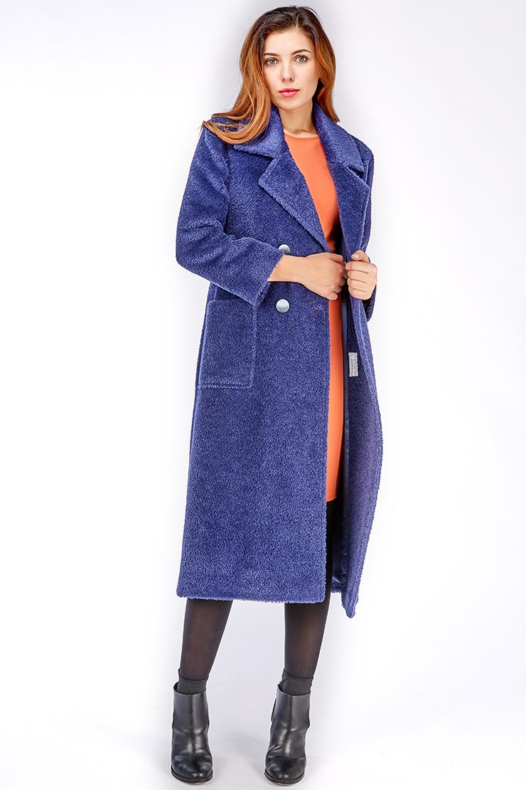 Женское пальто из альпака с английским воротникомПальто<br>Женское пальто из альпака с английским воротником<br>Цвет: синий; Размер: 44, 48, 50; Состав: 70% Baby Alpaca + 30% шерсть;Подкладка - 57% вискоза, 43% ацетат.; Материал: 70% Baby Alpaca + 30% шерсть;Подкладка - 57% вискоза, 43% ацетат.;