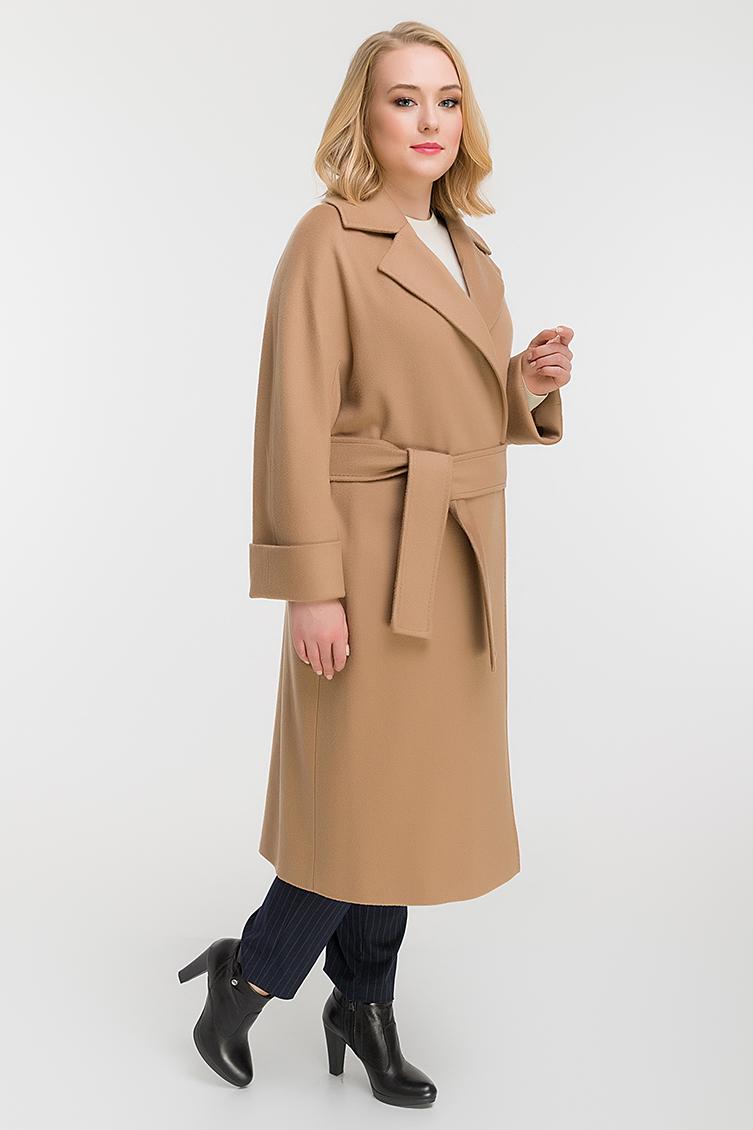 Классическое пальто с английским воротником для больших размеров фото