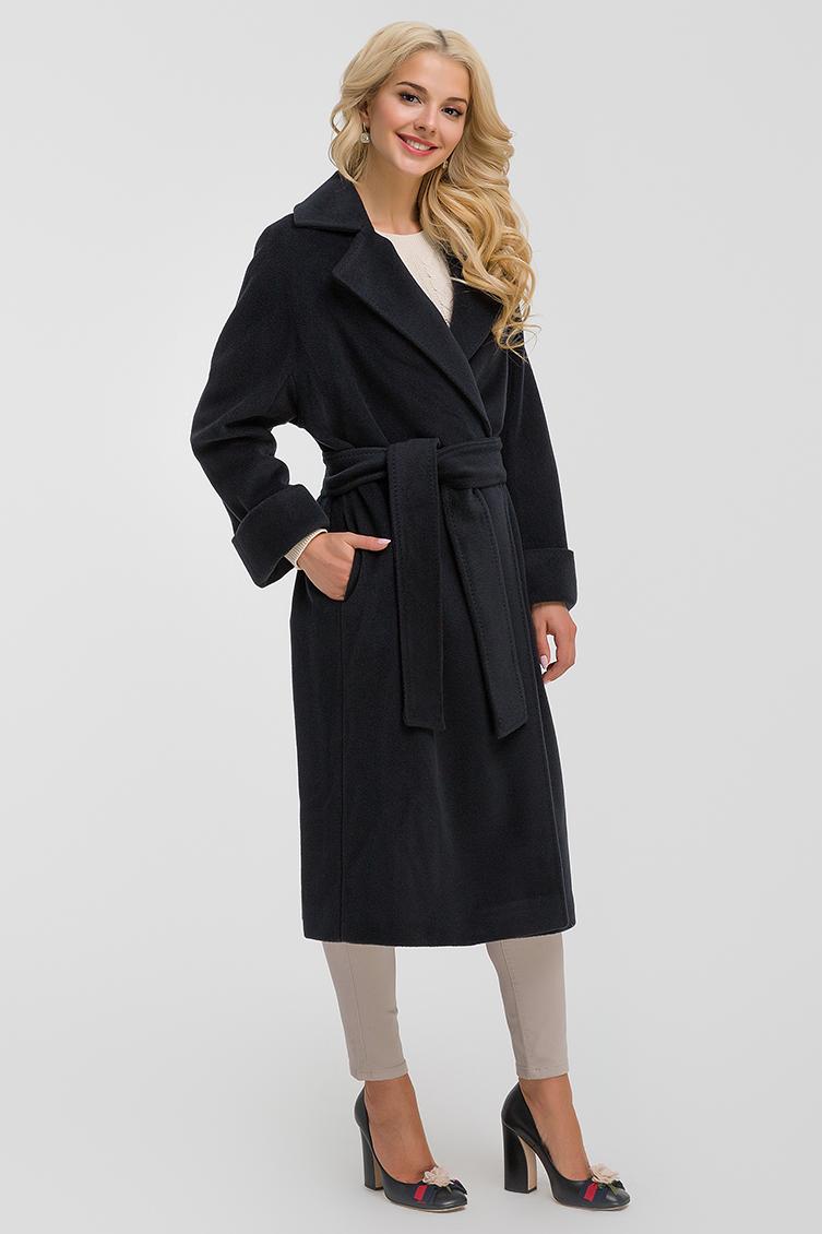 Женское пальто из шерсти с кашемиром фото