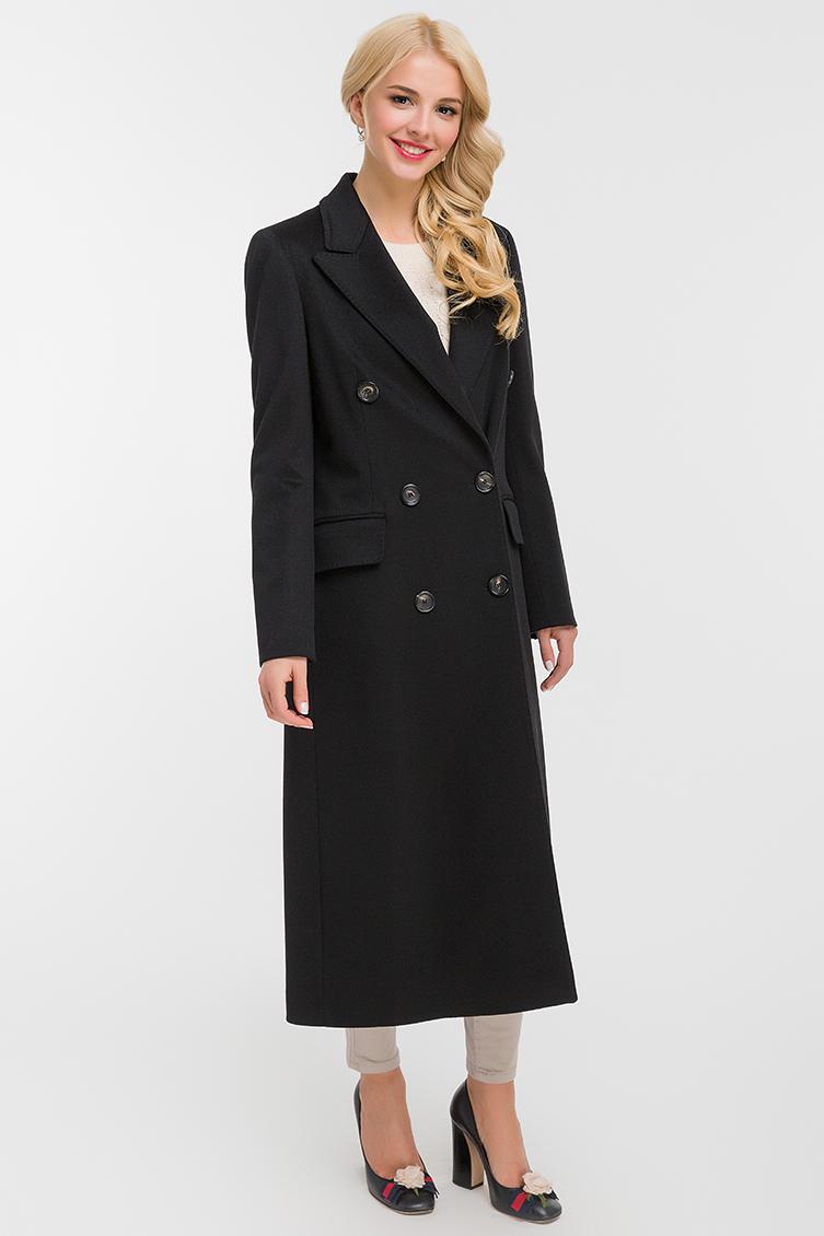 Женское итальянское двубортное пальто приталенного фасонаПальто<br>Женское итальянское двубортное пальто приталенного фасона<br>Цвет: черный; Размер: 40, 42, 44, 46, 48; Состав: 100% шерсть LoroPiana SuperFine; подкладка - 57% вискоза, 43% ацетат; Материал: 100% шерсть LoroPiana SuperFine; подкладка - 57% вискоза, 43% ацетат;